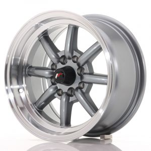 JR Wheels JR19 14x7 ET0 4x100/114 Gun Metal w/Machined Lip
