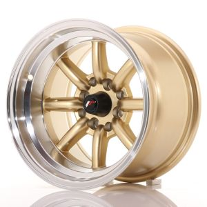 JR Wheels JR19 14x9 ET-25 4x100/114 Gold w/Machined Lip