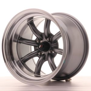 JR Wheels JR19 15x10,5 ET-32 4x100 Gun Metal w/Machined Lip