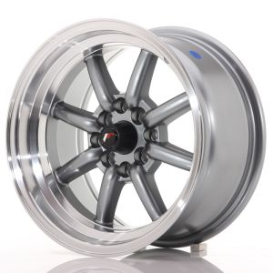 JR Wheels JR19 15x8 ET0 4x100/114 Gun Metal w/Machined Lip