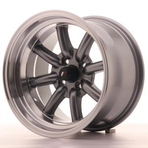 JR Wheels JR19 15x9 ET-13 4x100 Gun Metal w/Machined Lip