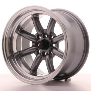 JR Wheels JR19 15x9 ET-13 4x100/108 Gun Metal w/Machined Lip