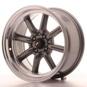 JR Wheels JR19 16x8 ET0 4x100/114 Gun Metal w/Machined Lip