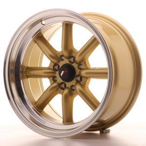 JR Wheels JR19 16x8 ET-20 4x100/114 Gold w/Machined Lip