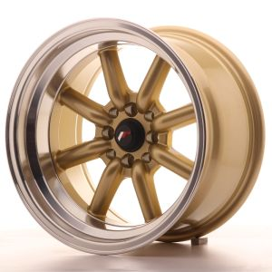 JR Wheels JR19 16x9 ET-15 4x100/114 Gold w/Machined Lip