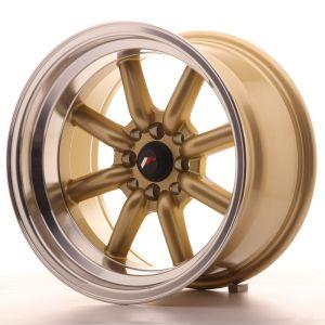 JR Wheels JR19 16x9 ET-25 4x100/114 Gold w/Machined Lip