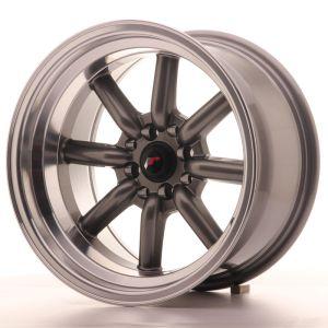 JR Wheels JR19 16x9 ET-25 4x100/114 Gun Metal w/Machined Lip