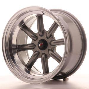 JR Wheels JR19 16x9 ET-25-(-15) BLANK Gun Metal w/Machined Lip