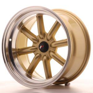 JR Wheels JR19 17x9 ET-10 BLANK Gold w/Machined Lip