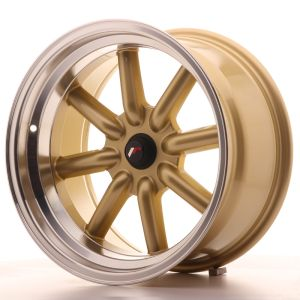 JR Wheels JR19 17x9 ET-25-(-10) BLANK Gold w/Machined Lip