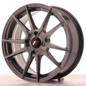 JR Wheels JR21 17x7 ET25-40 4H BLANK Hyper Black
