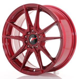 JR Wheels JR21 17x7 ET40 5x100/114 Platinum Red