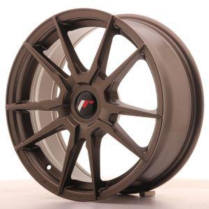 JR Wheels JR21 17x7 ET25-40 BLANK Matt Bronze