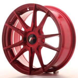 JR Wheels JR21 17x7 ET35-40 BLANK Platinum Red