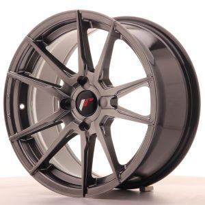 JR Wheels JR21 17x8 ET25-35 4H BLANK Hyper Black