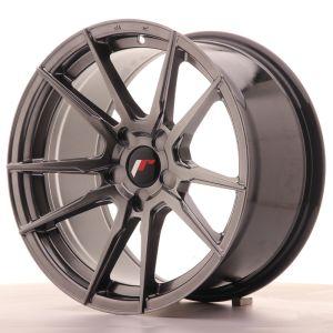 JR Wheels JR21 17x9 ET25-35 5H BLANK Hyper Black