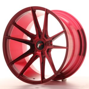 JR Wheels JR21 20x11 ET30-50 5H BLANK Platinum Red