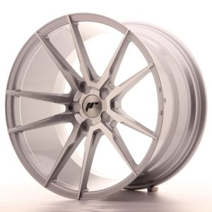 JR Wheels JR21 20x11 ET30-50 5H BLANK Silver Machined Face