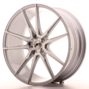 JR Wheels JR21 22x9 ET30-45 5H BLANK Silver Machined Face