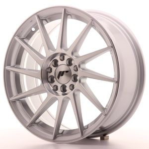 JR Wheels JR22 17x7 ET25 4x100/108 Silver Machined Face