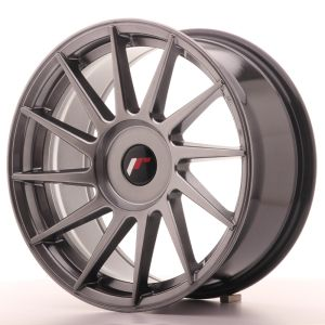 JR Wheels JR22 17x8 ET25-35 BLANK Hyper Black