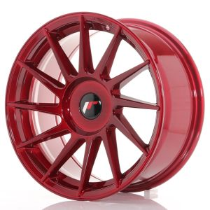 JR Wheels JR22 17x8 ET25-35 BLANK Platinum Red