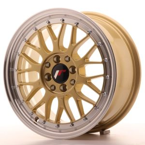 JR Wheels JR23 16x7 ET40 4x100/114,3 Gold w/Machined Lip