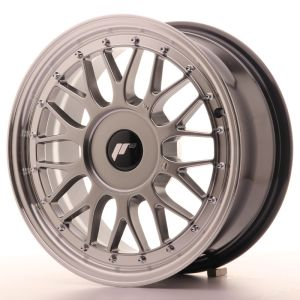 JR Wheels JR23 16x7 ET20-45 BLANK Hyper Black w/Machined Lip
