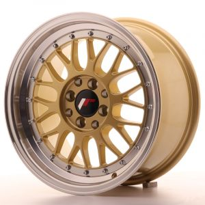 JR Wheels JR23 16x8 ET20 4x100/108 Gold w/Machined Lip