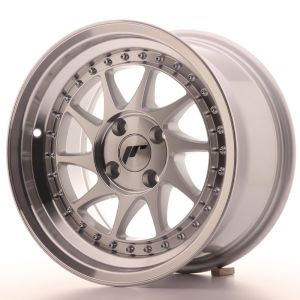 JR Wheels JR26 15x8 ET5 4x100 Silver Machined Face