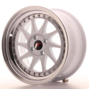 JR Wheels JR26 16x8 ET30 4x100 White w/Machined Lip