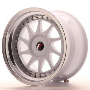 JR Wheels JR26 17x10 ET20-25 BLANK White w/Machined Lip