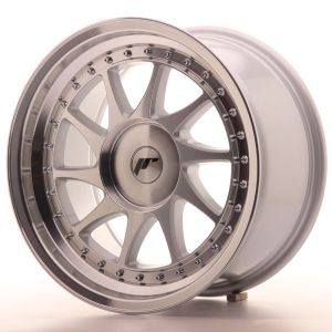 JR Wheels JR26 17x9 ET20-35 BLANK Silver Machined Face