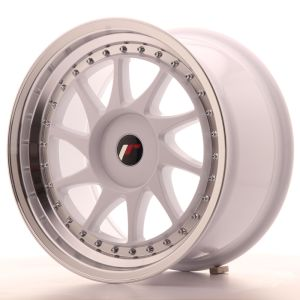 JR Wheels JR26 17x9 ET20-35 BLANK White w/Machined Lip