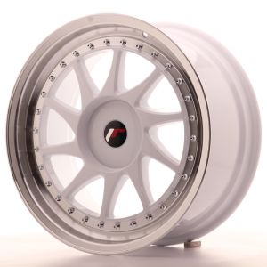 JR Wheels JR26 18x8,5 ET20-40 BLANK White w/Machined Lip