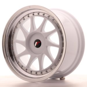 JR Wheels JR26 18x9,5 ET20-40 BLANK White w/Machined Lip