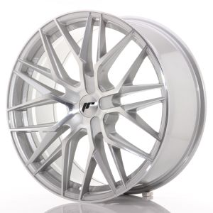JR Wheels JR28 21x9 ET15-45 5H BLANK Silver Machined Face