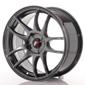 JR Wheels JR29 17x8 ET20-38 4H BLANK Hyper Black