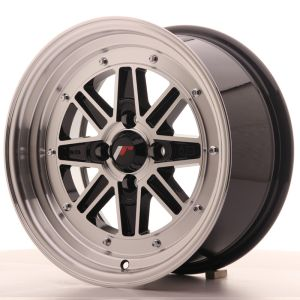 JR Wheels JR31 15x7.5 ET20 4x100 Gloss Black Machined Face