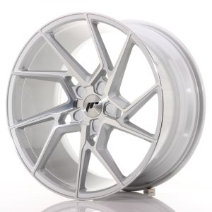 JR Wheels JR33 20x10 ET20-40 5H BLANK Silver Machined Face