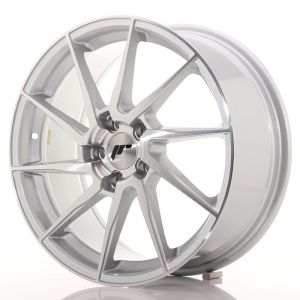 JR Wheels JR36 18x8 ET35 5x120 Silver Brushed Face