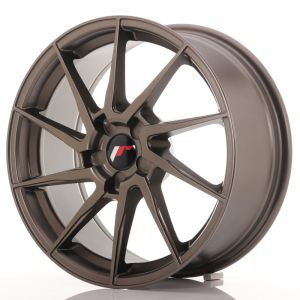 JR Wheels JR36 18x8 ET20-52 5H BLANK Matt Bronze