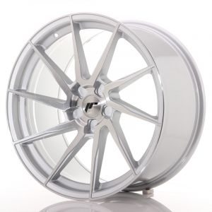 JR Wheels JR36 20x10 ET20-45 5H BLANK Silver Brushed Face