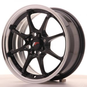 JR Wheels JR5 15x7 ET35 4x100 Gloss Black w/Machined Lip