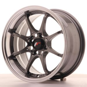 JR Wheels JR5 15x8 ET28 4x100 Gun Metal w/Machined Lip