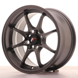 JR Wheels JR5 15x8 ET28 4x100 Matt Gun Metal