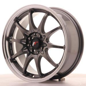 JR Wheels JR5 16x7 ET30 4x100/108 Gun Metal w/Machined Lip