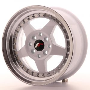 JR Wheels JR6 15x7 ET35 4x100/114 White w/Machined Lip