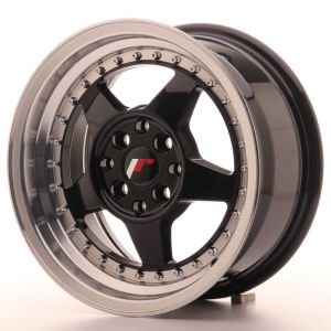 JR Wheels JR6 15x7 ET25 4x100/108 Gloss Black w/Machined