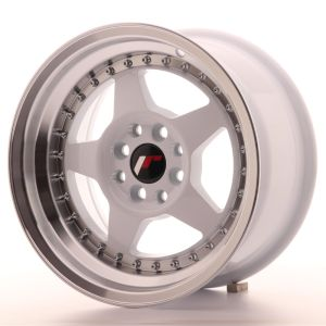 JR Wheels JR6 15x8 ET25 4x100/108 White w/Machined Lip